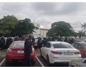Heavy security presence at Supreme Court as voters' register case comes up