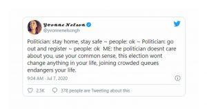 Yvonne Nelson jabs politicians over voters' register