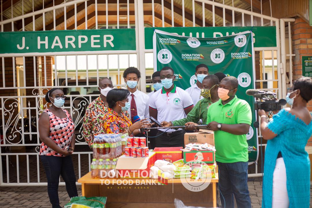 Kevin Abban Donates To the KNUST Food Bank